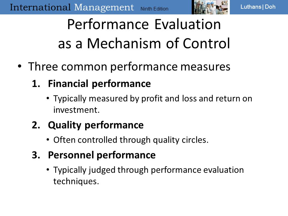 Performance Evaluation as a Mechanism of Control