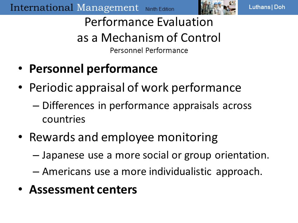Performance Evaluation as a Mechanism of Control Personnel Performance