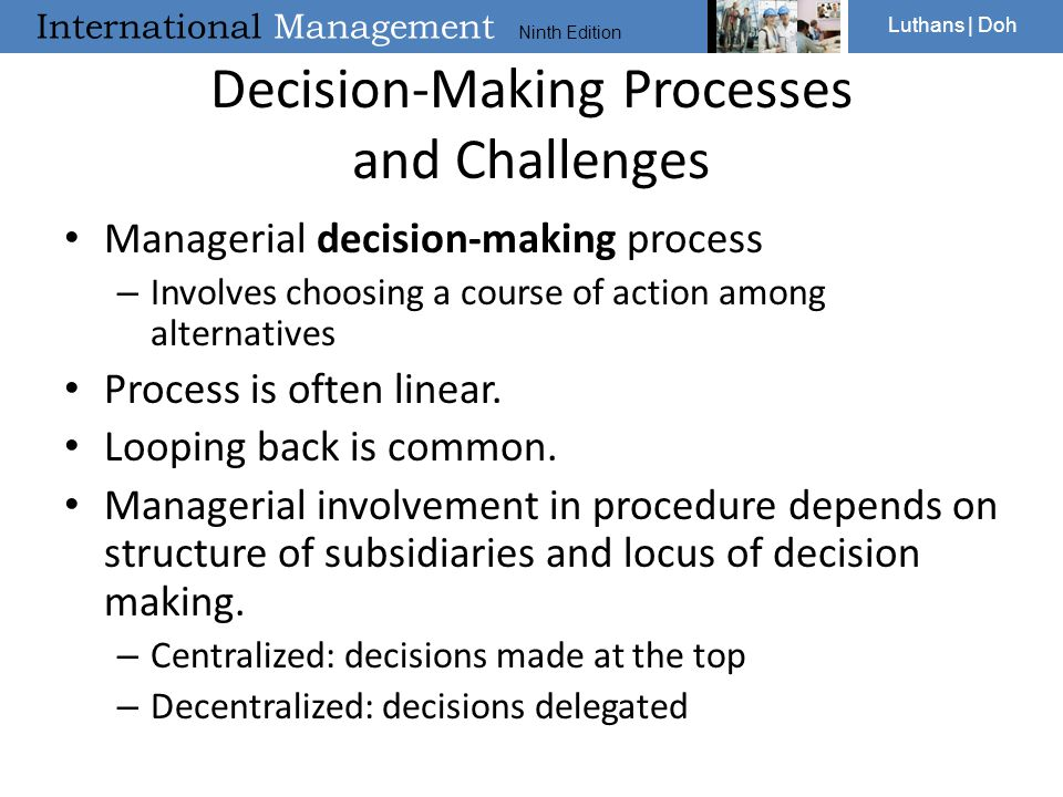 Decision-Making Processes and Challenges