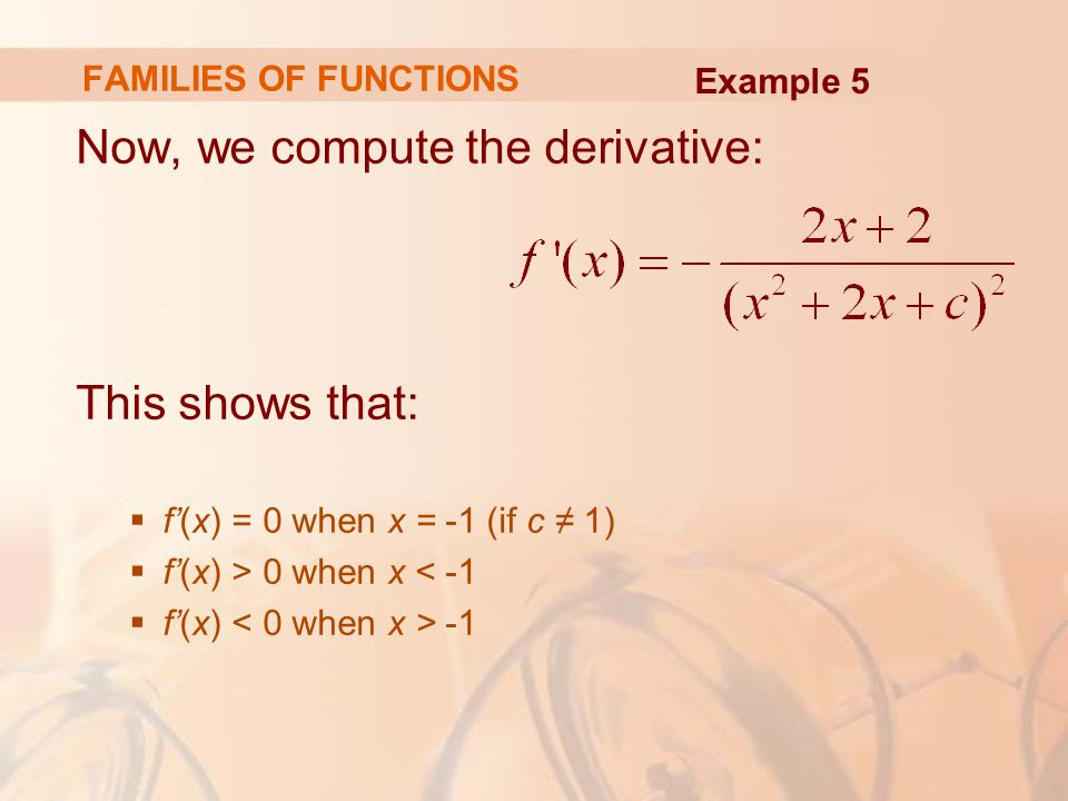 Now, we compute the derivative:
