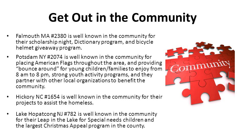 Get Out in the Community