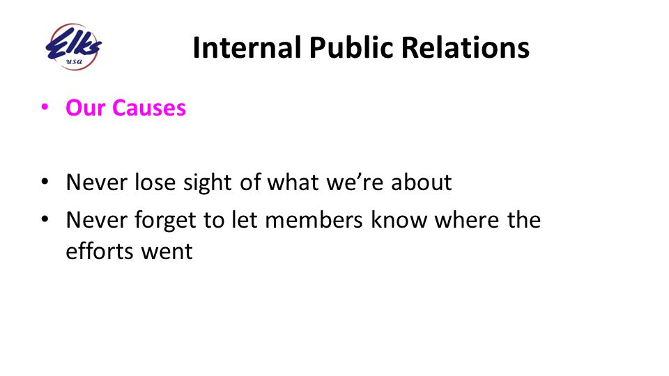 Internal Public Relations