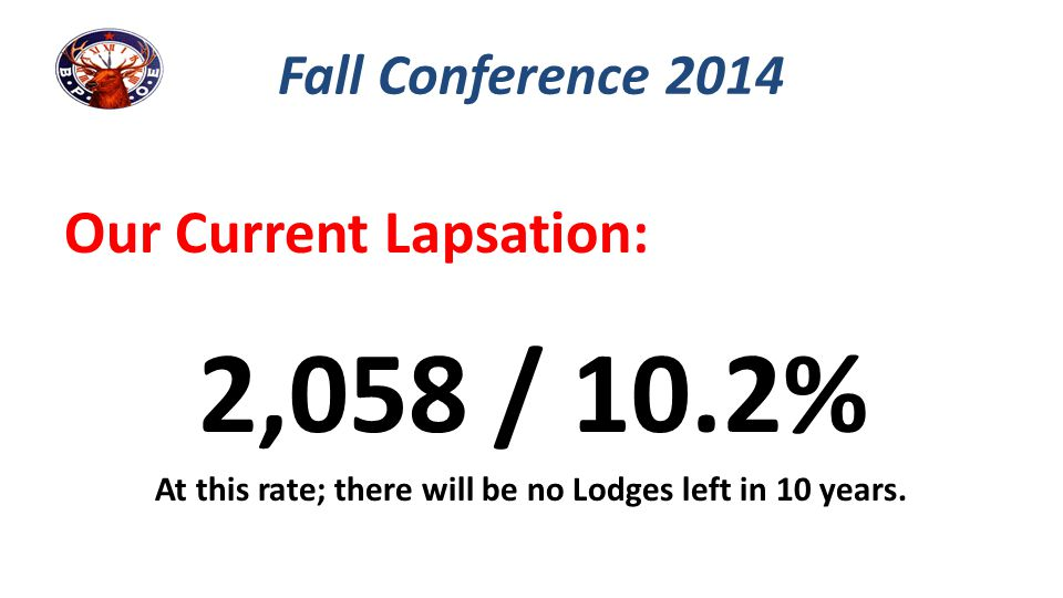 At this rate; there will be no Lodges left in 10 years.