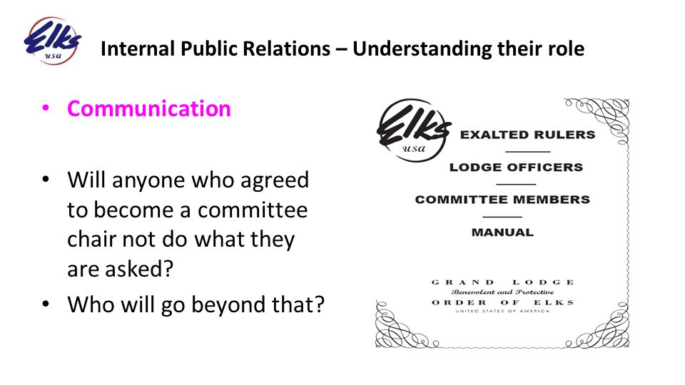 Internal Public Relations – Understanding their role