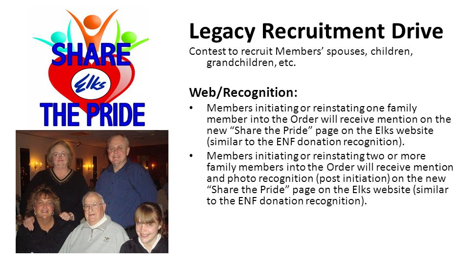 Legacy Recruitment Drive