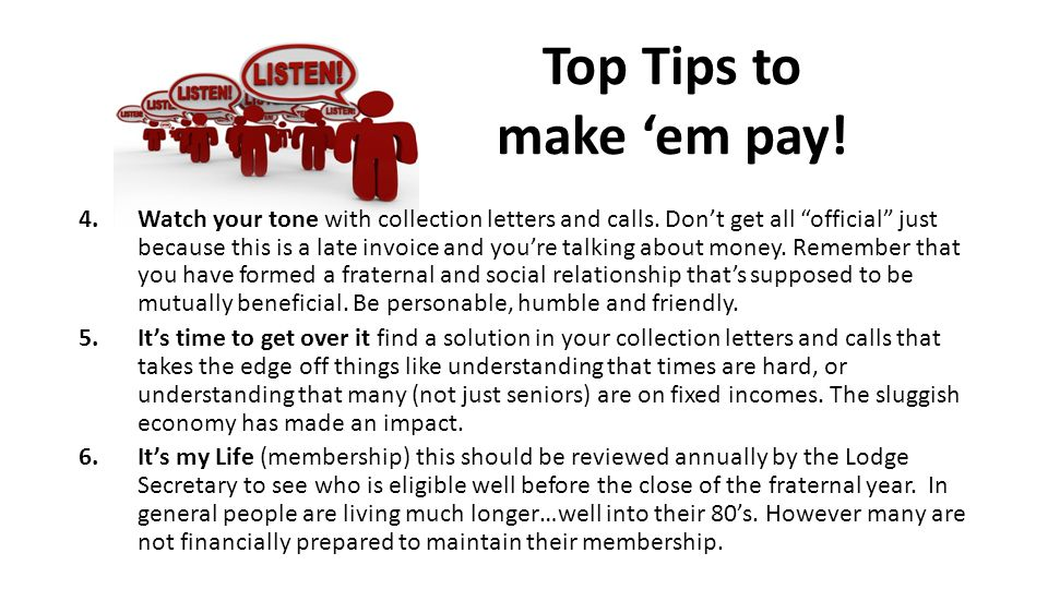 Top Tips to make 'em pay!