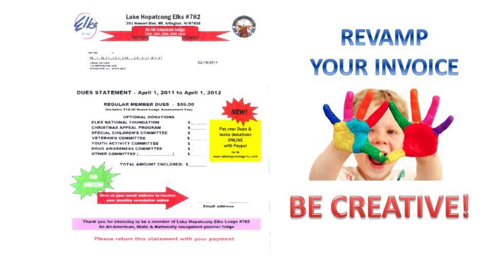 REVAMP YOUR INVOICE BE CREATIVE!