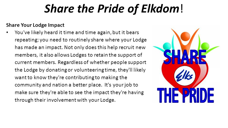 Share the Pride of Elkdom!