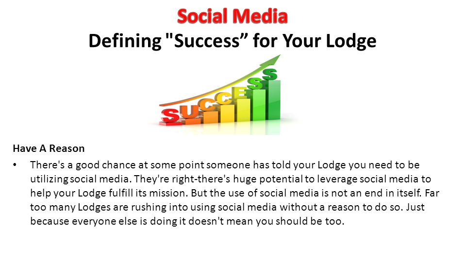 Social Media Defining Success for Your Lodge