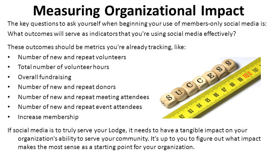 Measuring Organizational Impact