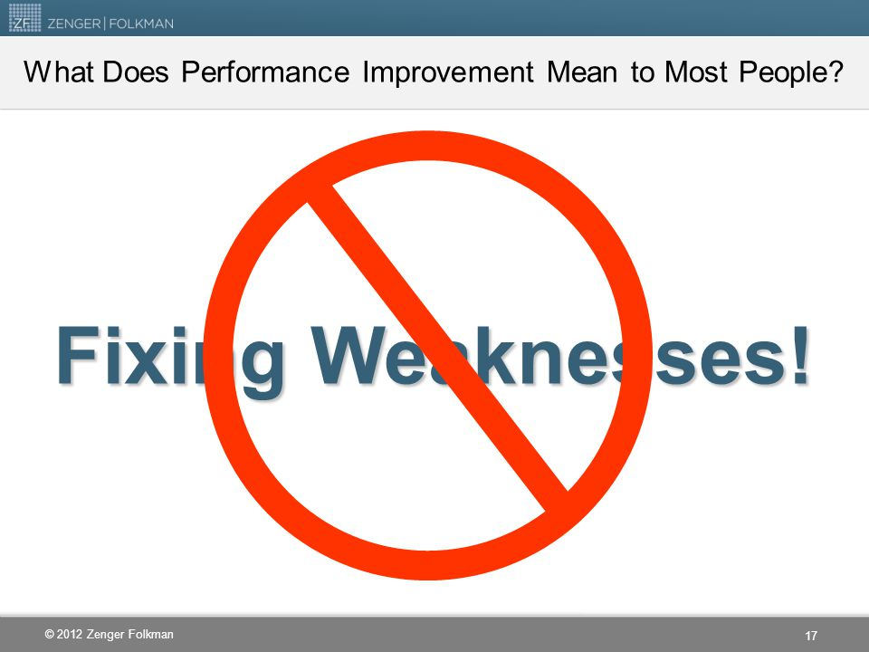 What Does Performance Improvement Mean to Most People