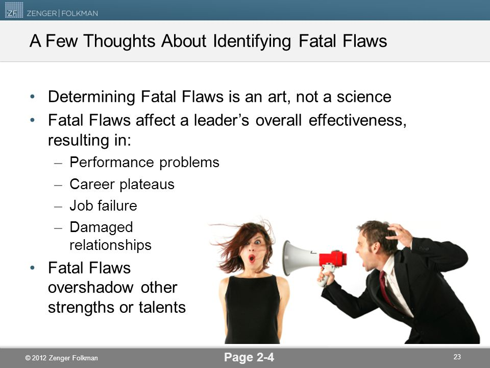 A Few Thoughts About Identifying Fatal Flaws