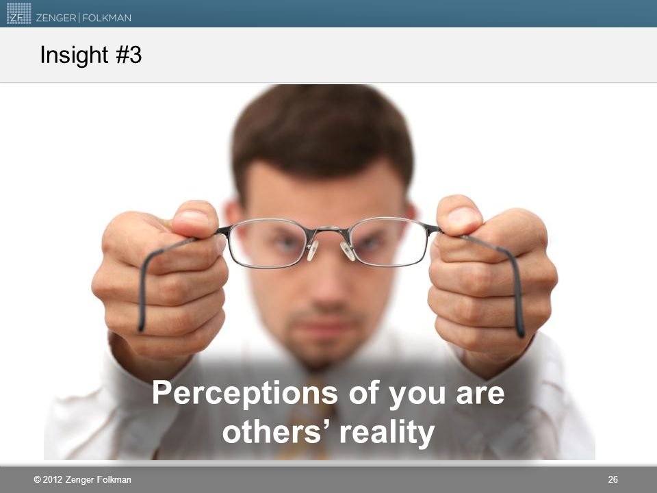 Perceptions of you are others' reality