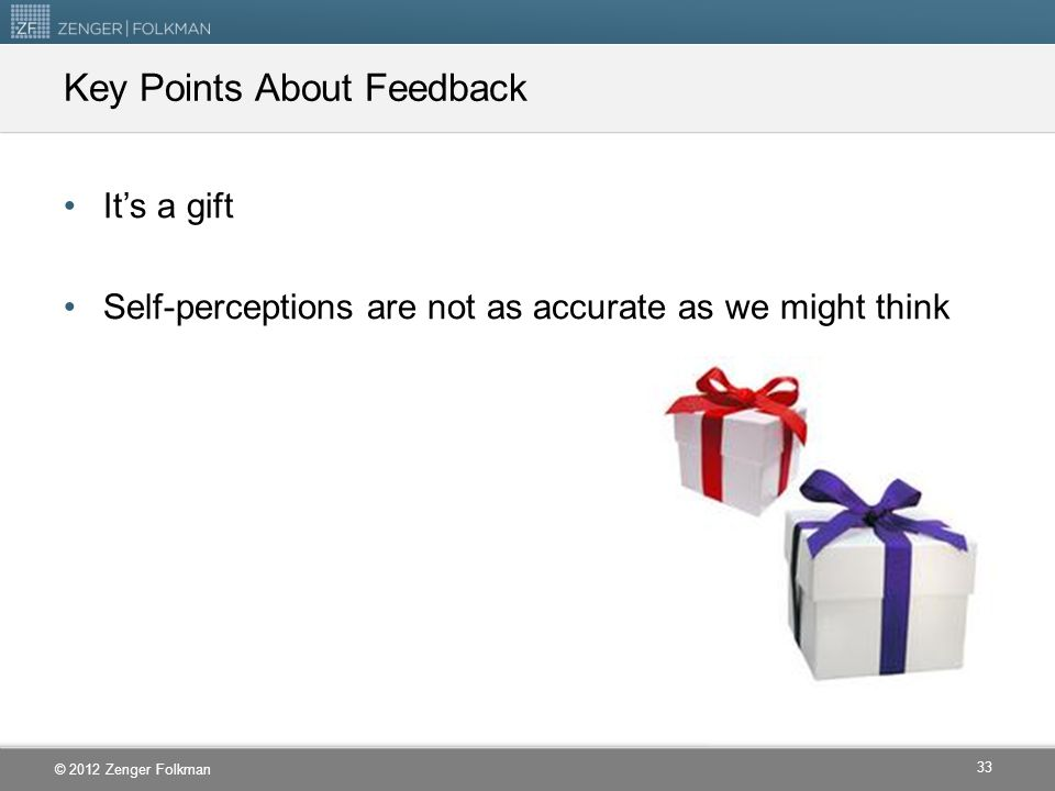 Key Points About Feedback