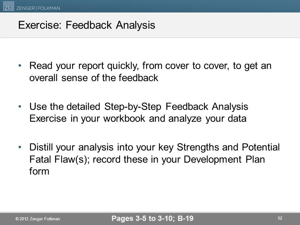 Exercise: Feedback Analysis