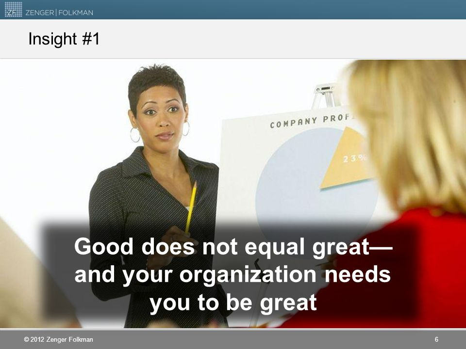 Good does not equal great—and your organization needs you to be great
