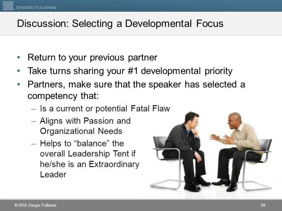 Discussion: Selecting a Developmental Focus