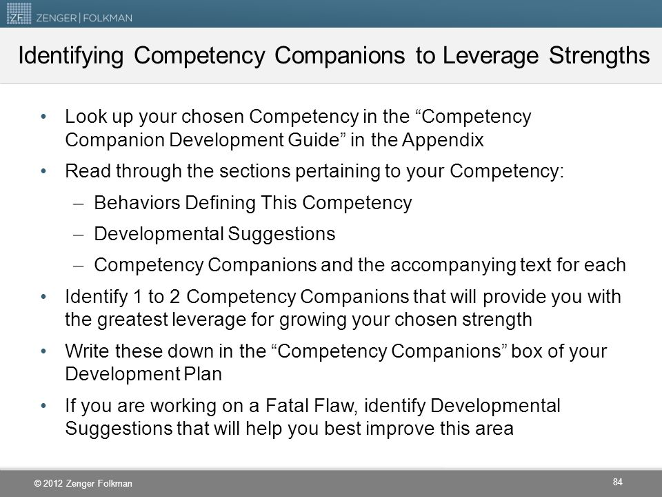 Identifying Competency Companions to Leverage Strengths