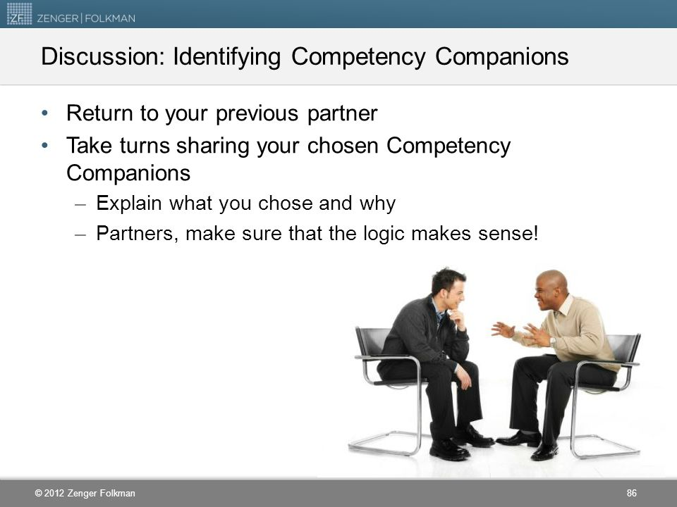 Discussion: Identifying Competency Companions