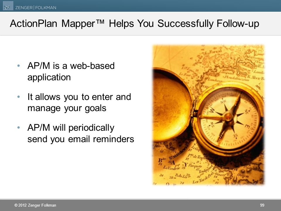 ActionPlan Mapper™ Helps You Successfully Follow-up