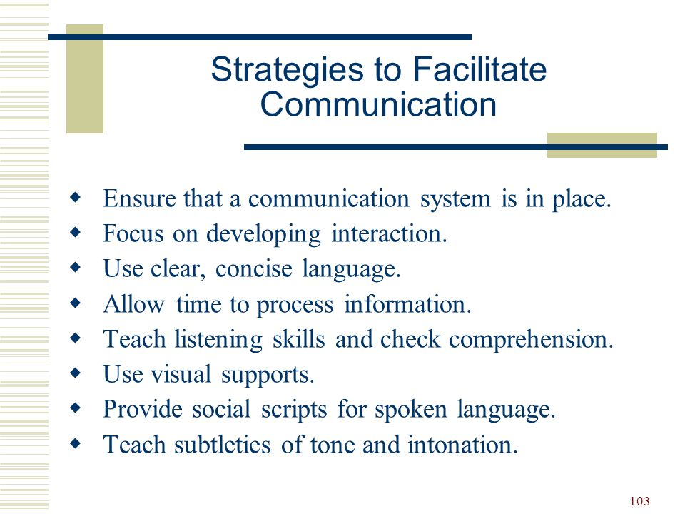 Strategies to Facilitate Communication