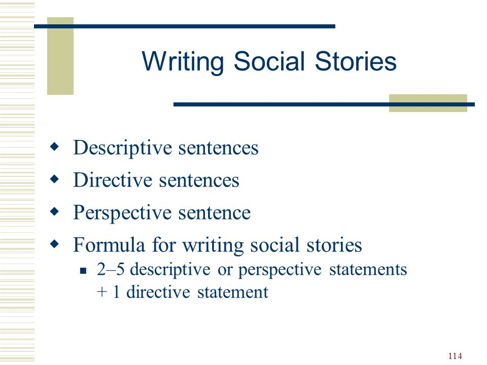 Writing Social Stories