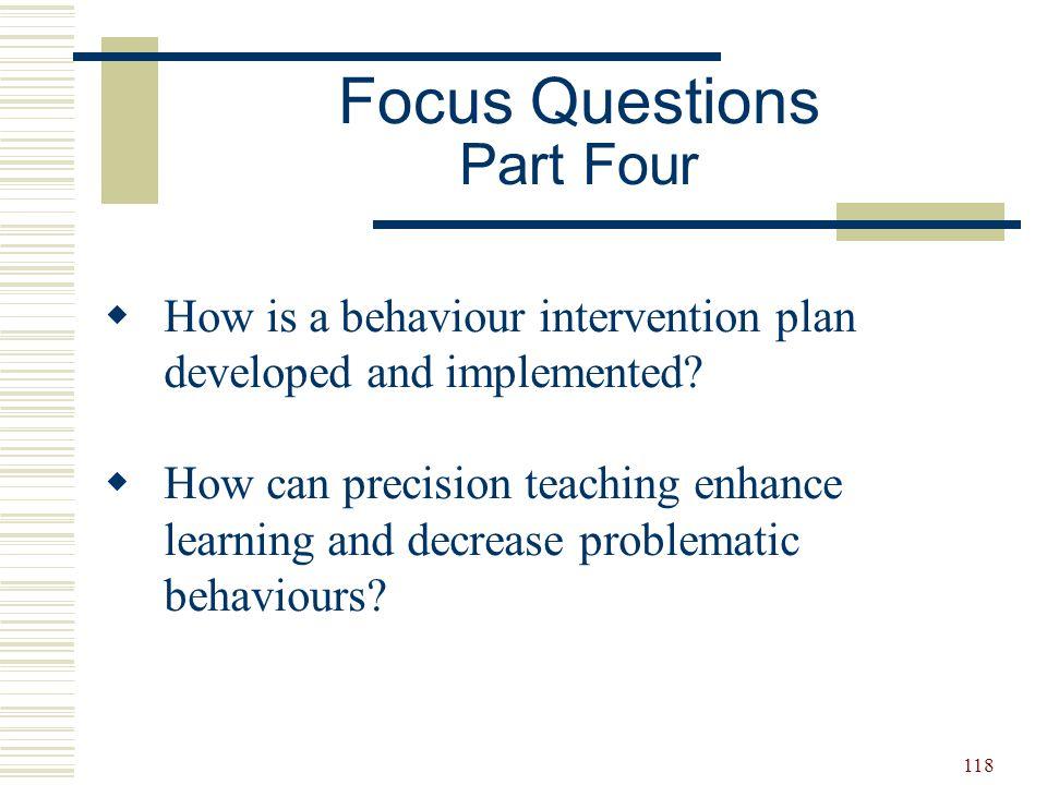 Focus Questions Part Four