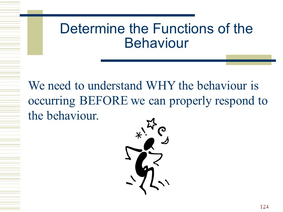 Determine the Functions of the Behaviour