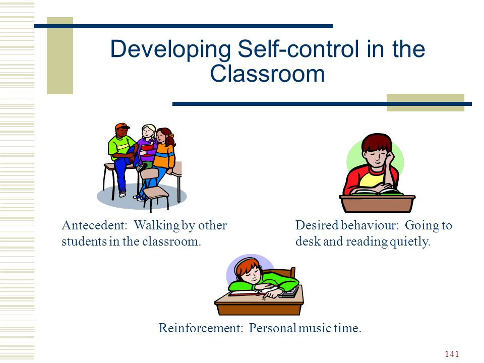 Developing Self-control in the Classroom