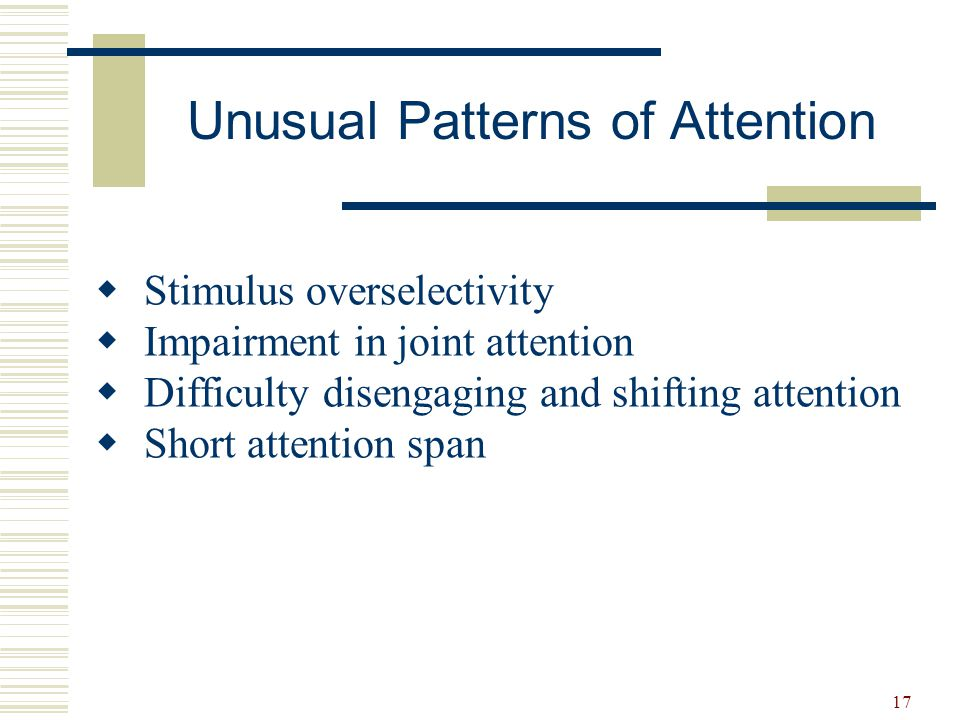 Unusual Patterns of Attention