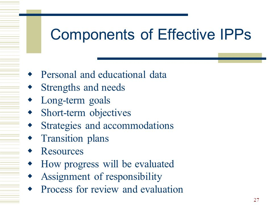 Components of Effective IPPs