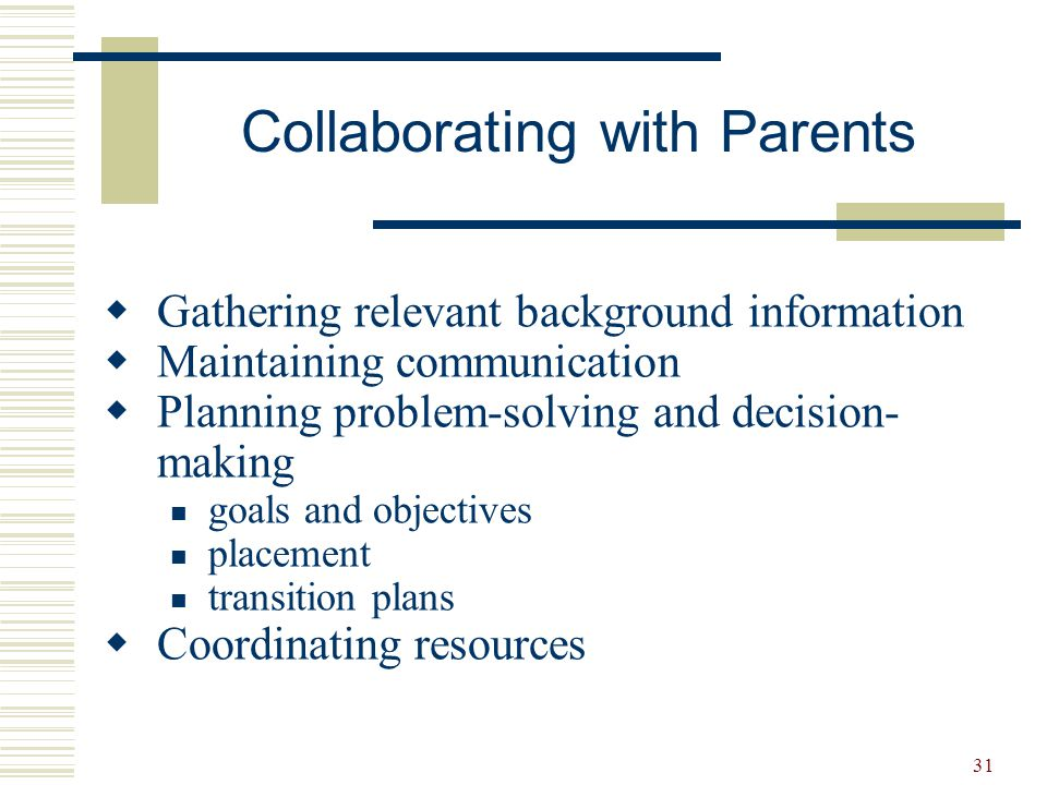 Collaborating with Parents
