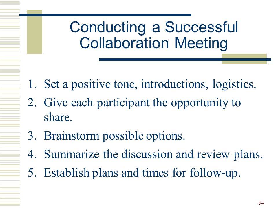 Conducting a Successful Collaboration Meeting