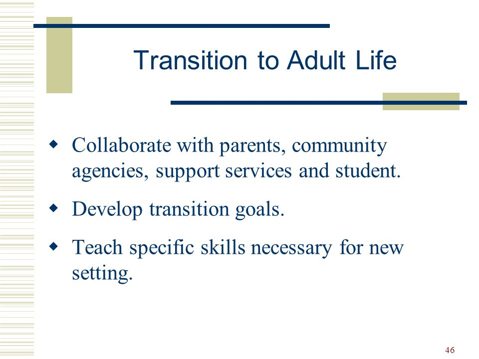 Transition to Adult Life