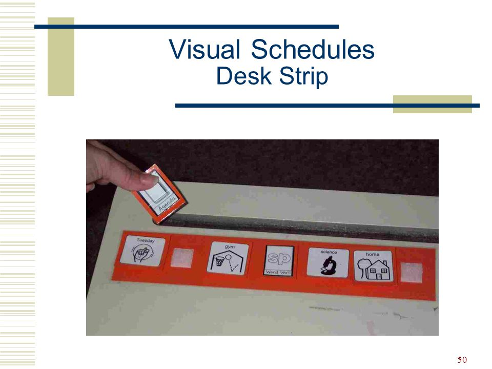 Visual Schedules Desk Strip