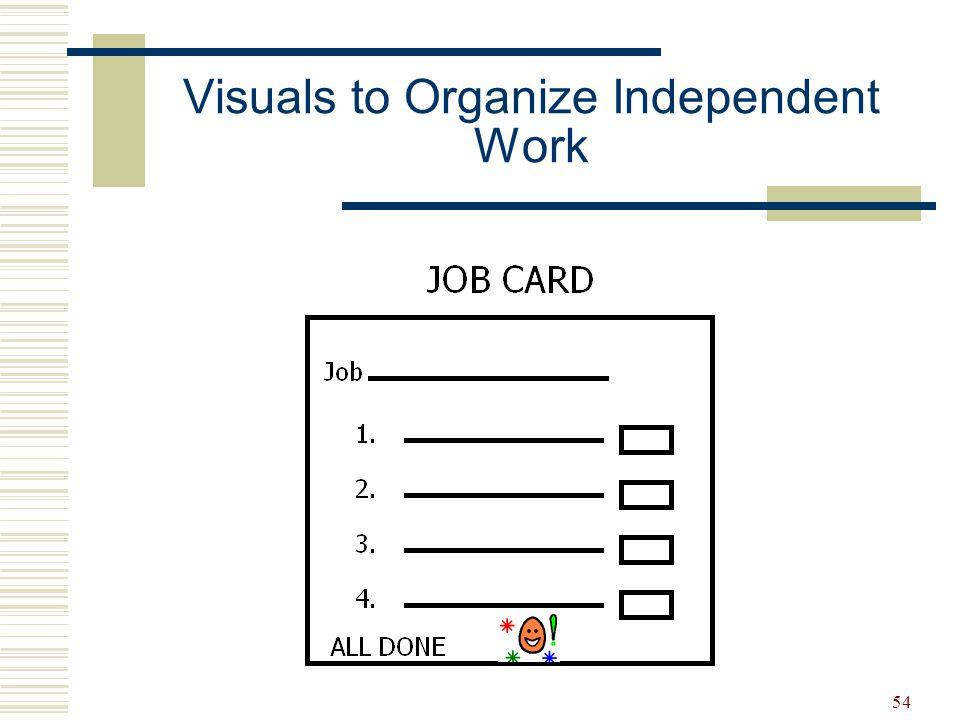 Visuals to Organize Independent Work
