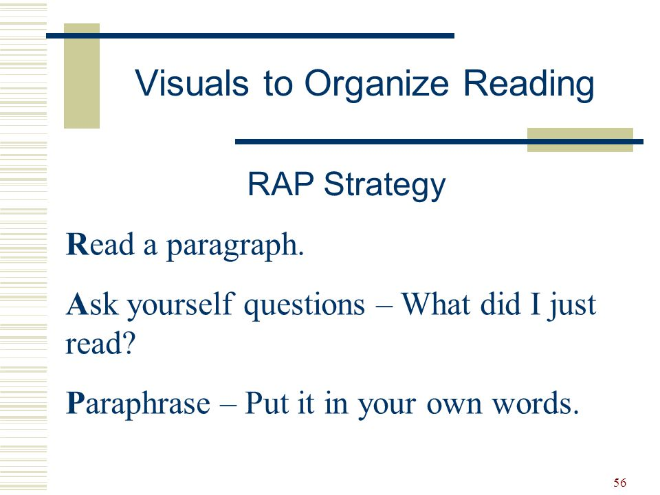 Visuals to Organize Reading