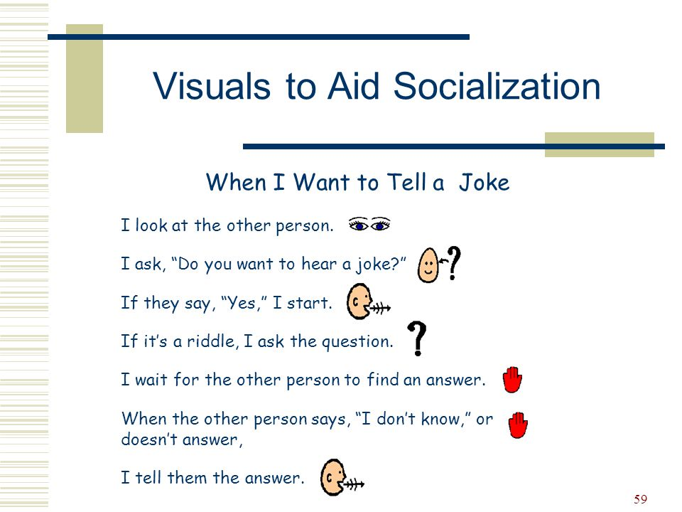 Visuals to Aid Socialization