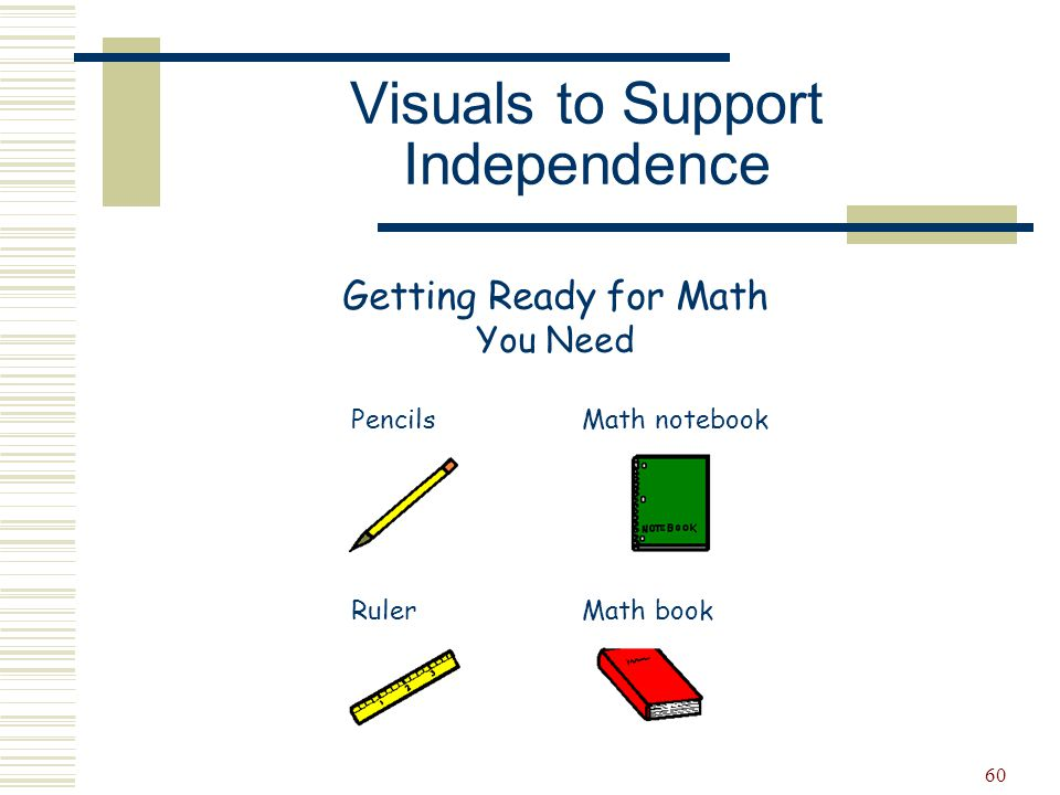 Visuals to Support Independence