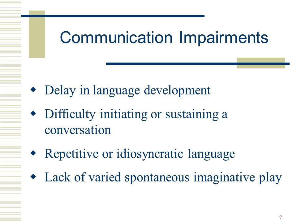 Communication Impairments
