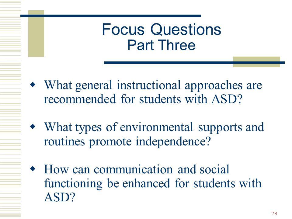 Focus Questions Part Three