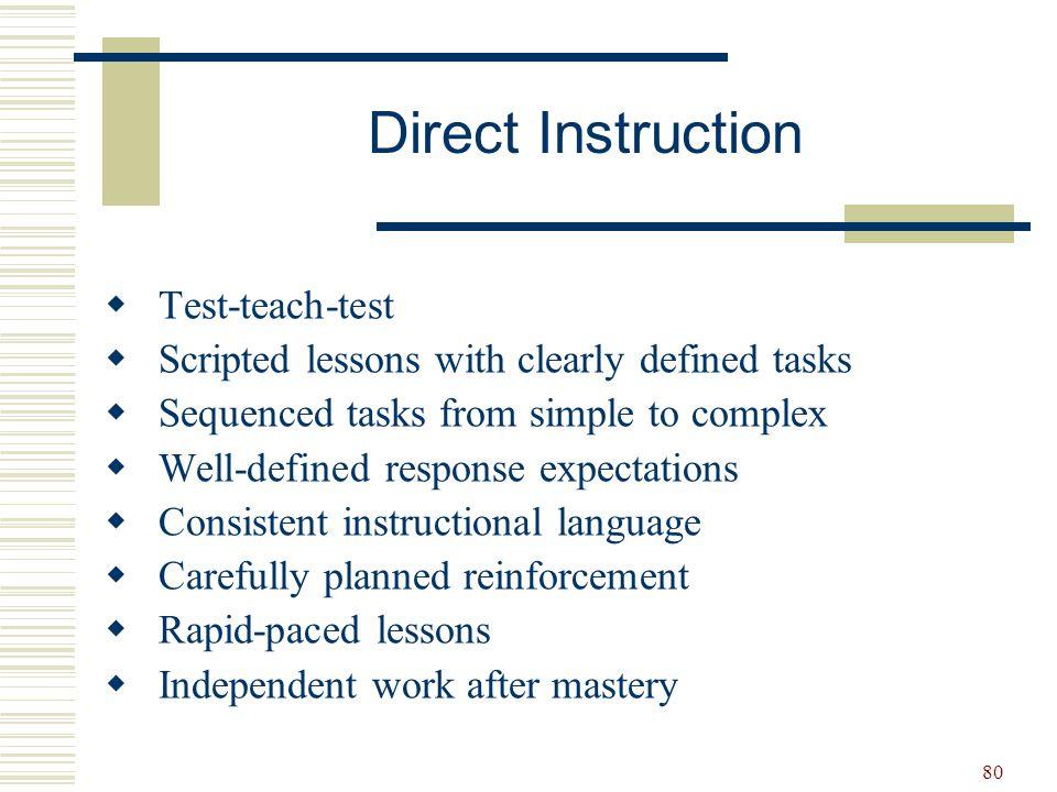 Direct Instruction Test-teach-test