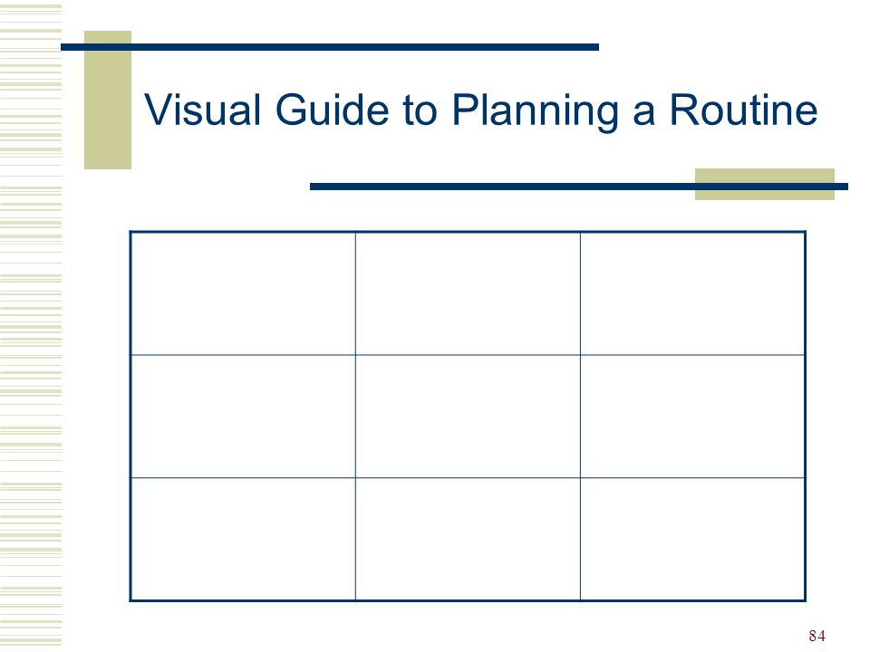 Visual Guide to Planning a Routine