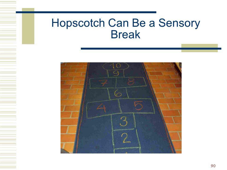 Hopscotch Can Be a Sensory Break