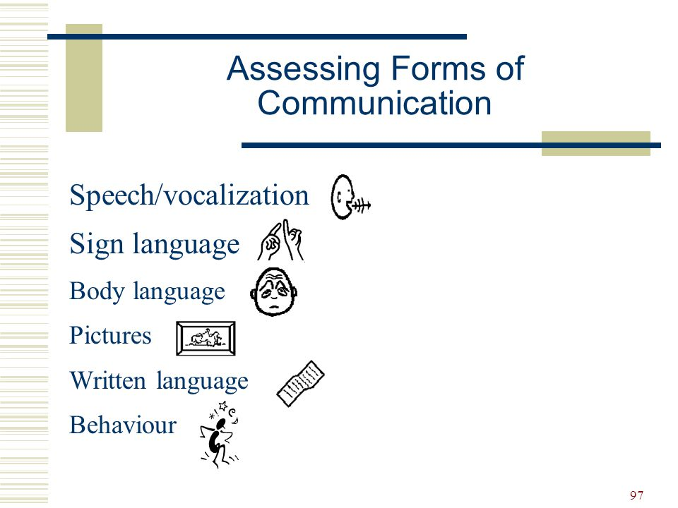 Assessing Forms of Communication