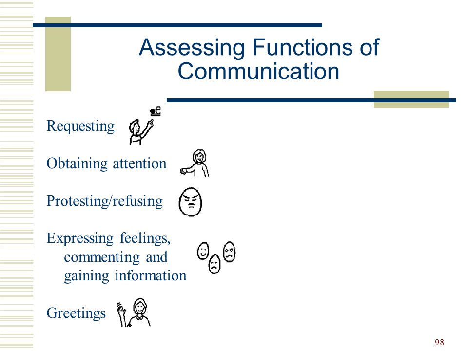 Assessing Functions of Communication