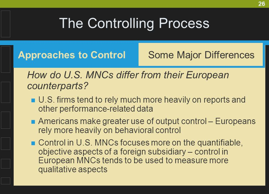 The Controlling Process