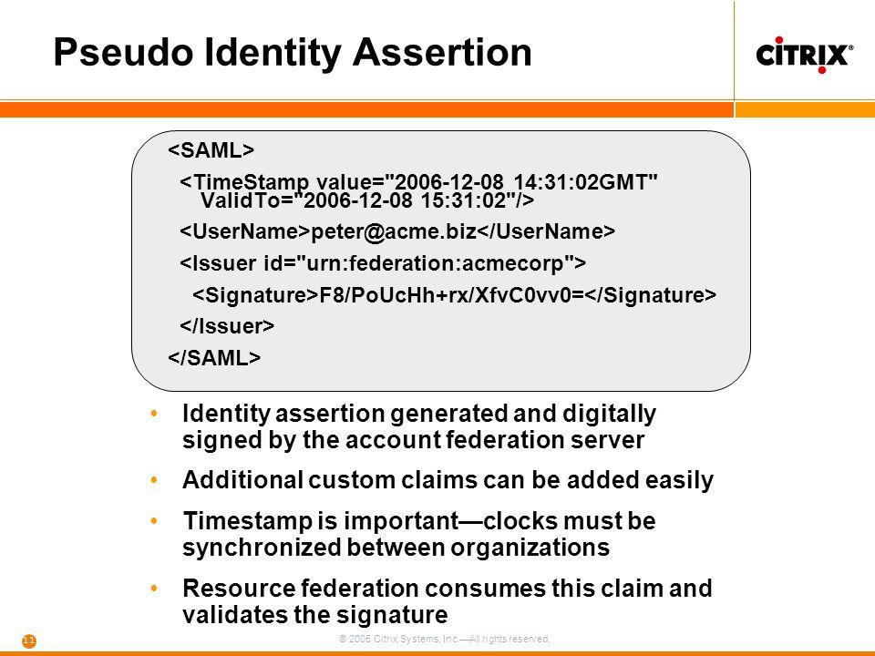 Pseudo Identity Assertion