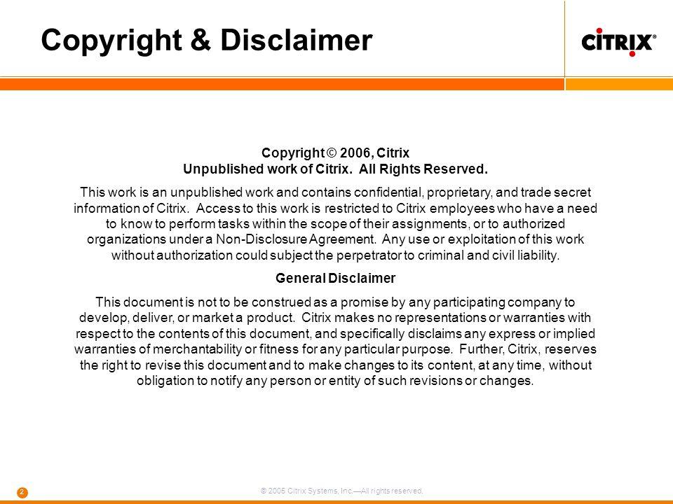 Copyright & Disclaimer