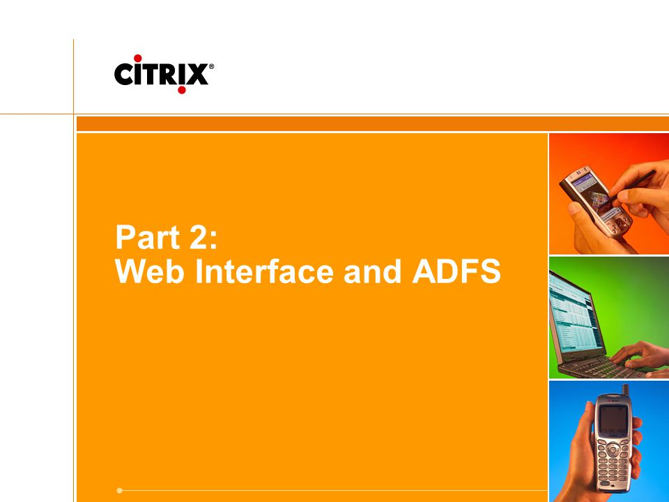 Part 2: Web Interface and ADFS
